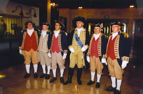 MOSSAR Color Guard team attend the Founding of Freedom ceremoney at Union Station in Kansas City, MO on October 26, 2002