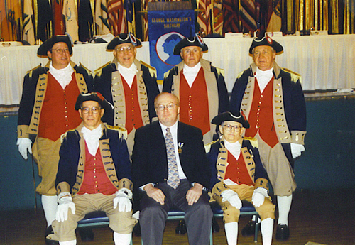 MOSSAR Color Guard team at 17th Annual George Washington Birthday celebration at Kansas City, MO on February 21, 2003