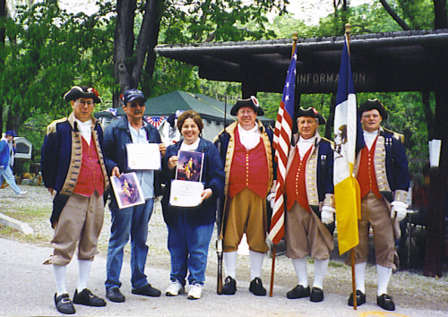 MOSSAR Color Guard team at Pomme de Terre Rendezvous, Hermitage, MO on May 3-4, 2003