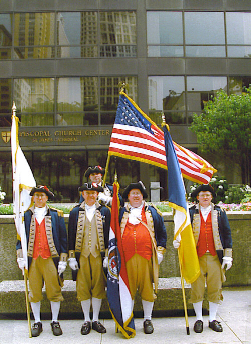 MOSSAR Color Guard team at Annual NSSAR Congress at Chicago, IL on July 5-9, 2003