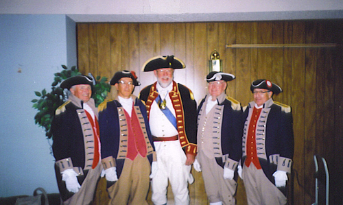 MOSSAR Color Guard team at Point Pleasant, WV Battle Days Colonial Governor's Reception on October 2, 2004