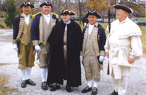 MOSSAR Color Guard members are shown here at the President Day 2005 Memorial at Lafayette Park in St. Louis, MO on February 21, 2005
