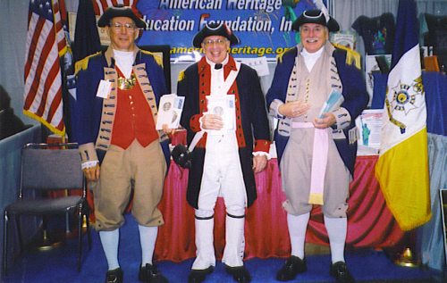 MOSSAR & KSSAR Color Guard members are shown here at the National Social Studies Convention at the American Heritage Education Foundation booth on November 19th, 2005 at Bartle Hall in Kansas City, MO