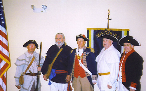 Pictured here is the MOSSAR Color Guard Team taken at 117th MOSSAR Annual State Meeting on Friday, April 27th thru Saturday, April 28th, 2007 at Osage Beach, MO