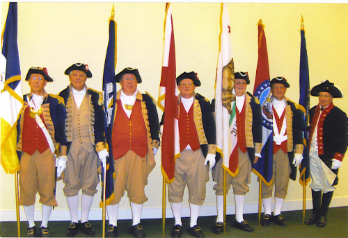 The MOSSAR Color Guard is shown here participating in the 117th NSSAR Congress in Williamsburg, VA on July 8-11, 2007