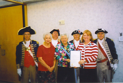 The MOSSAR Color Guard is shown here participating in a Constitution Day Proclamation from Independence, MO, located at the Harry S. Truman Library in Independence, MO on September 17, 2007
