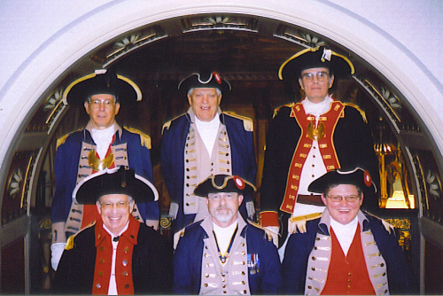 The MOSSAR Color Guard is shown here participating at the Leadership/Trustee Meeting in Louisville, KY at the Brown Hotel on September 28-29, 2007. Captain David J. Gray, a dual member from MA is also pictured here. Captain  Gray is a Past National Color Guard Commander. Captain Gray and Major General Robert L. Grover both received the Color Guard Gold medal