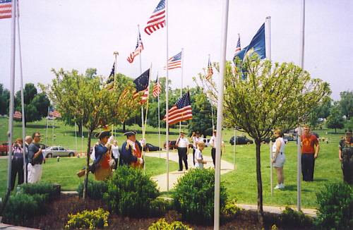 The MOSSAR Color Guard team participated in a Memorial Day event on Sunday, May 25, 2008 at Floral Hills Cemetery in Raytown, MO. The MOSSAR Color Guard Team pays tribute to all veterans buried at Floral Hills Cemetery.
