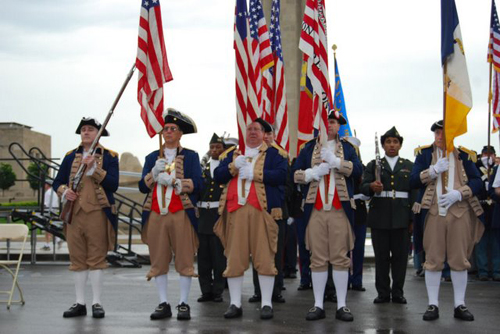 MOSSAR & KSSSAR Color Guard Teams on Memorial Day 2008. The team participated in the Memorial Day event located at the Liberty Memorial tower in Kansas City, MO, which honors World War I veterans.