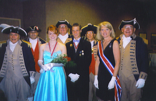 The MOSSAR and KSSSAR Color Guard is shown here during the opening ceremony of the 2008 Great Plains C.A.R. Regional Meeting, held on June 23-24, 2008 at the Holiday Inn Kansas City Airport in Kansas City, MO. In addition, several disguished guests included Kevin Spence Baker, National C.A.R. President for 2008-2009; Lois Wood Schmidt, Senior National President for 2008-2010; and Susannah Carter, President of the Great Plains Regional President for 2008-2009