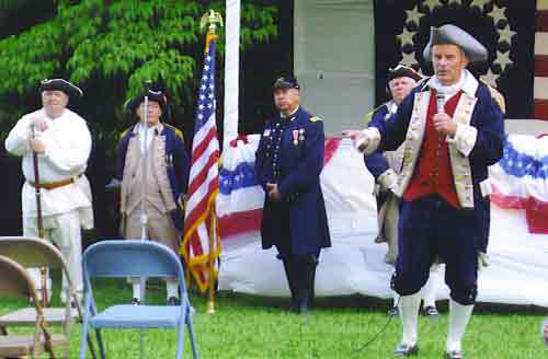 Pictured here is the MOSSAR Color Guard team along with Congressman Todd Akin, during the 4th of July Celebration at the Akin Home on Sunday, June 29, 2008.