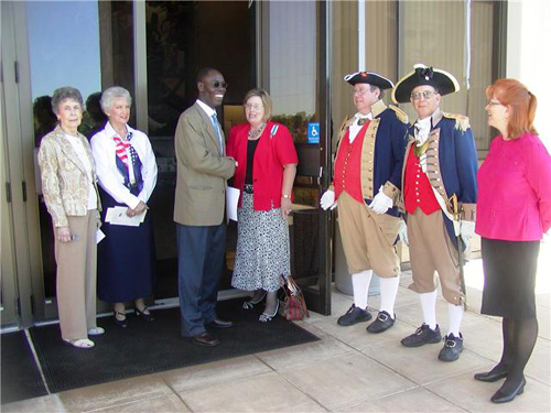 The MOSSAR Color Guard is shown here participating in a Constitution Day Proclamation located at the Harry S. Truman Library in Independence, MO on September 17, 2008.  In addition, there were several members of the Independence Pioneers DAR Chapter from Independence, MO