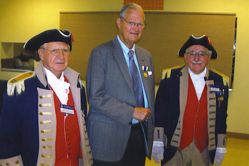 Pictured here is the MOSSAR Color Guard team along with U.S. Representative Ike Skelton, Missouri's 4th District, who is shown here receiving the Sons of the American Revolution Gold Good Citizenship Award on October 18, 2008.  Presenting the Gold Good Citizenship Award to Rep. Skelton are Captain Robert L. Lantz and Compatriot Wilber Kephart.  The Gold Good Citizenship Award is presented for OUTSTANDING AND UNUSUAL patriotic achievement and service of NATIONAL IMPORTANCE.