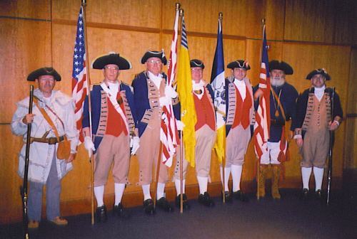 Pictured here is the MOSSAR Color Guard Team on Veterans Day 2008. The team participated in the Veterans Day event located at the Liberty Memorial tower in Kansas City, MO, which honors World War I veterans.