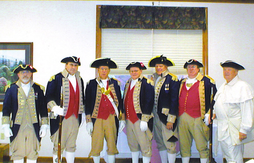Pictured here is the MOSSAR Color Guard at the MOSSAR Board of Directors Meeting in Columbia, MO on Saturday, October 25, 2008.