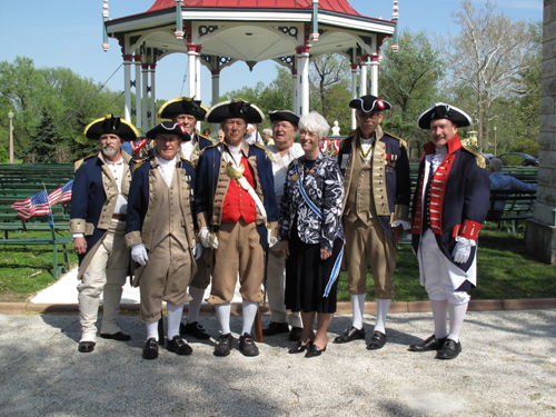 Pictured here is the MOSSAR Color Guard during the St. Louis-Jefferson DAR Chapter Historical Marker Dedication at Tower Grove Park Bandstand in St. Loius, MO on Sunday, April 26th, 2009.