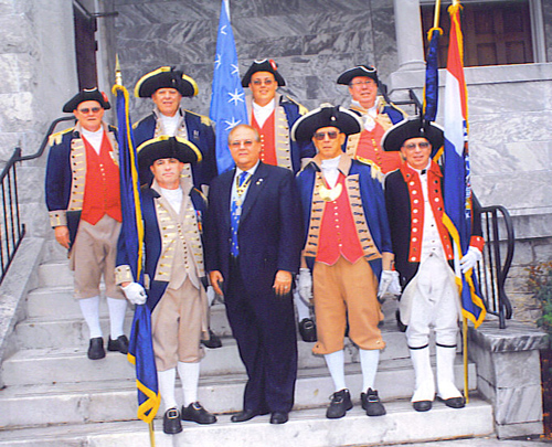 PG David Appleby and MOSSAR Color Guard members are shown here participating at the 119th NSSAR Congress at the Renaissance Waverly Hotel in Atlanta, GA on July 4 - 8, 2009.