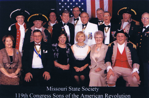 PG David Appleby and MOSSAR members are shown here participating in the 119th NSSAR Congress at the Renaissance Waverly Hotel in Atlanta, GA on July 4 - 8, 2009.