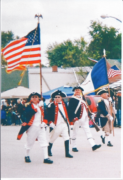 Pictured here is the MOSSAR Color Guard team during the New Brunswick Pecan Festival on October 3, 2009.  New Brunswick , MO is the Pecan Capital of Missouri and the Home of the World's Largest Pecan - just three miles east of Brunswick is a really giant pecan. It is a replica of the Starking Hardy Giant Pecan discovered in 1955 by George James.