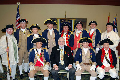 Pictured here is the MOSSAR Guard at the MOSSAR Board of Directors Meeting in Columbia, MO with PG Edward Butler on Saturday, January 30, 2010