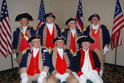 Pictured here is GWBC Color Commander Dirk A. Stapleton and the MOSSAR Color Guard Team at the 24th Annual George Washington Birthday Celebration in Overland Park, KS on February 20, 2010.