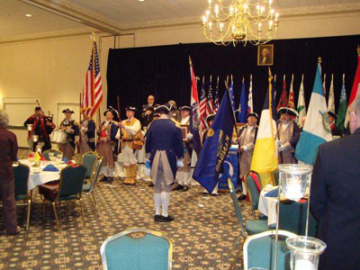 Pictured here is the MOSSAR and KSSSAR Color Guard Team during the Presentation of the Colors taken at the 24th Annual George Washington Birthday Celebration in Overland Park, KS on February 20, 2010. GWBC Color Commander Dirk A. Stapleton and the GWBC Color Guard is shown here during the opening ceremony.