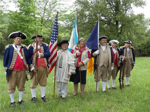 Shown here is the MOSSAR Color Guard team participating at the Hannah Cole Grave Marking Ceremony, along with the Hannah Cole Chapter, NSDAR, in Boonville, Missouri on Friday, May 29, 2010.