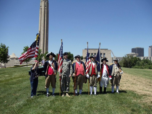 Pictured here is MOSSAR Color Guard, on Saturday, May 29, 2010, in which a Memorial Service was held with a Memorial Wreath-Laying to Honor the Magnificent Valor at Liberty Memorial.