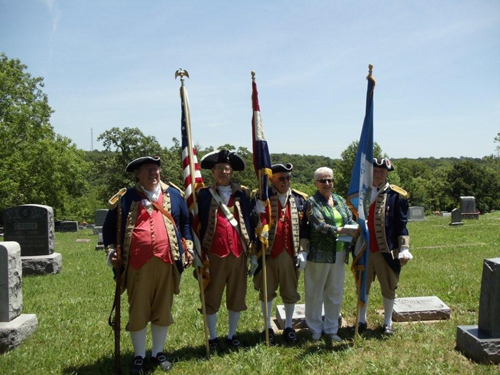 Shown here is the MOSSAR Color Guard team participating at a DAR Dedication Ceremony, in Oscela, Missouri on Friday, June 4, 2010.