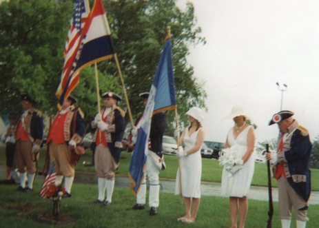 Pictured here is the MOSSAR Color Guard team at the Graveside Dedication for R. Margaret Bellem (Marge) of the Prarie Chapter, NSDAR, at Longview Memorial Gardens in Lee's Summit, Missouri on June 13, 2010.  Regent Lois Walden, of the Prairie Chapter, NSDAR, presided over the dedication service.