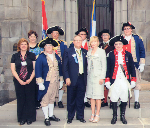 MOSSAR Color Guard team and spouses are shown here participating at the Annual NSSAR Congress at Cleaveland, OH on June 25-July 1, 2010.