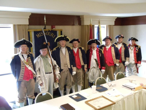 Pictured here is the MOSSAR Guard at the MOSSAR Board of Directors Meeting in Columbia, MO on Saturday, July 31, 2010.