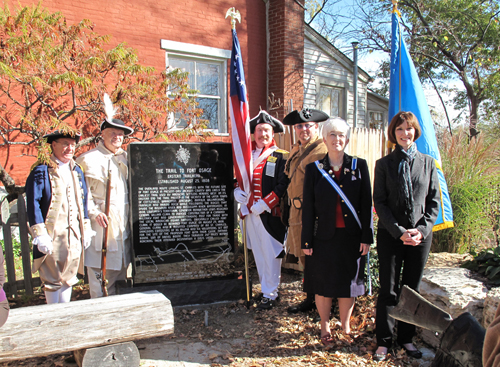 Pictured here is the MOSSAR Color Guard team at the DAR Trail Marking Ceremony taking place on October 30, 2010, at St. Charles, MO.