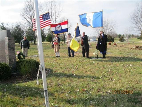 The MOSSAR Color Guard Team participated in presenting and retirement of the colors during the Wreaths Across America Ceremony on December 11, 2010. The team participated in the Wreaths Across America Ceremony located at the Swan Lake Memorial Gardens Cemetery in Grain Valley, MO, which honors Missouri veterans.