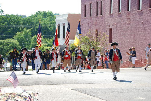 Shown here is both the MOSSAR & KSSSAR Color Guard Teams, who participated at the Fourth of July 2011 Parade in Liberty, MO on Monday, July 4, 2011.