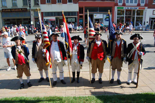 Shown here is both the MOSSAR & KSSSAR Color Guard Teams, who participated at the Fourth of July 2011 Parade in Liberty, MO on Monday, July 4, 2011. The Color Guard team also participated in the Fourth of July 2011 events at City Hall in Liberty, MO.