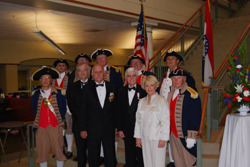 Shown here is both the MOSSAR & KSSSAR Color Guard Teams, who participated at the Roots of a Nation Exhibit at  the Midwest Genealogy Center in Independence, MO on Friday, July 8, 2011.