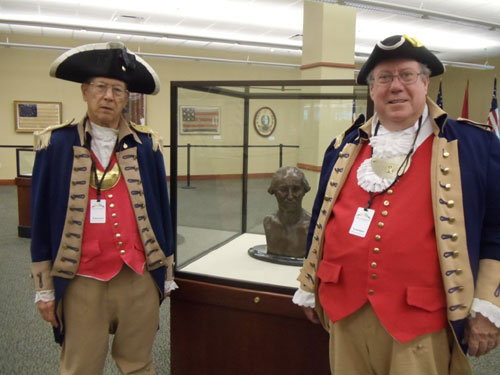 Shown here is the MOSSAR Color Guard Team, who volunteered as docents on Wednesday, July 13, 2011. Both Color Guard members have been appointed by the the Midwest Genealogy Center, to assit with the Roots of a Nation Exhibit at the Midwest Genealogy Center in Independence, MO.