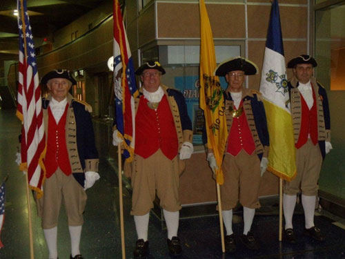 Pictured here is the MOSSAR Color Guard team from the Kansas City area, who are shown here at the Honor Flight Greeting for WWII Veterans at Kansas City International on Wednesday evening, July 13, 2011.
