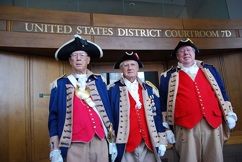Pictured here is the MOSSAR Color Guard team during the Naturalization Ceremony held at the United States District Court in Kansas City, Missouri on Thursday, July 14, 2011.