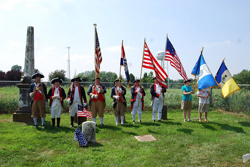 the MOSSAR Color Guard Team participated in a Dedication Ceremony for American Revolution War Patriot Patriot Anthony Thomas on Sunday, July 17, 2011, where he is buried in the Thomas Cemetery, which is ½ mile east of Waverly, in Lafayette County, Missouri.