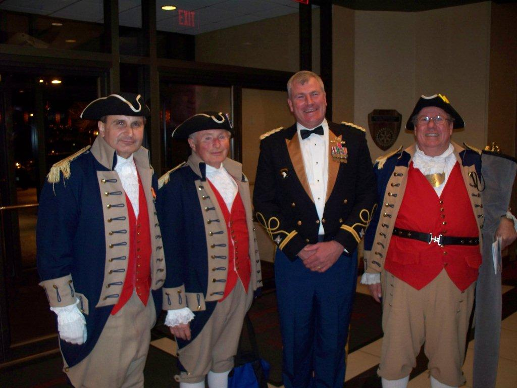 Pictured here is the MOSSAR Color Guard Team, taken after the presentation and retirement of the colors at the 209th Regional Support Group Dining In, located in Overland Park, KS on February 25, 2012.  In the photo, the MOSSAR Color Guard Team is shown with the 209th Regional Support Group Commander; Steven Eveker, Commander, 209th Regional Support Groupand..