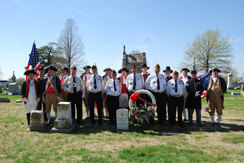The MOSSAR Color Guard, along with other local heredity groups including the Captain Daniel Morgan Boone Chapter,Society of the War of 1812; Westport Camp #64, Sons of Union Veterans of the Civil War; and VFW Post 1738 from Independence, MO, conducted a recognition ceremony for a Civil War Medal of Honor recipient, Major M.R. William Grebe, buried at Kansas City's Mount St. Mary's Cemetery. Major M.R. William Grebe, 4th Missouri Cavalry, received the Medal of Honor in 1899 for his heroism and leadership.