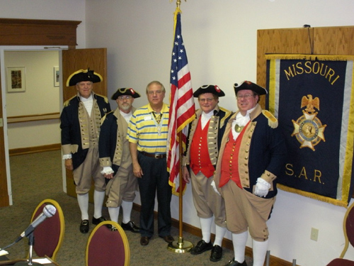 Pictured here is the MOSSAR Guard at the MOSSAR Board of Directors Meeting in Columbia, MO with PG David Appleby on Saturday, July 26, 2008.