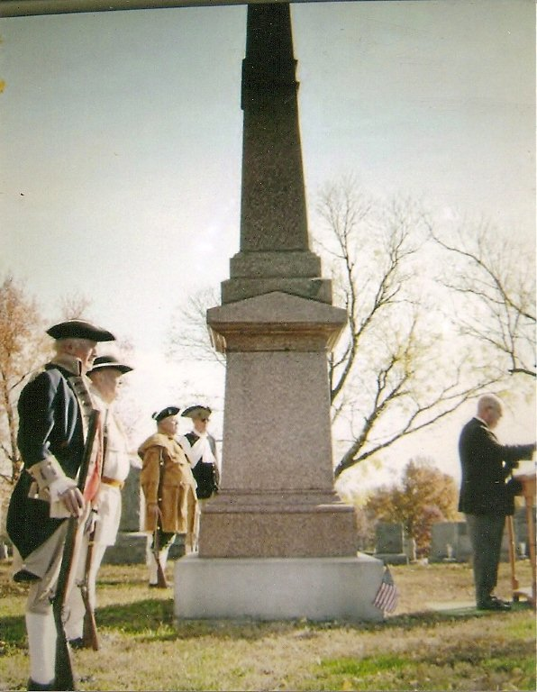 The MOSSAR Color Guard is shown here participating on Veterans Day 2011 at Riverside Cemetery presenting Colors, along with a speech and proclamation by Mayor Eric Struemph, and a ride-through by 16 American Legion Riders in the front of the headstone of Thomas L. Price, the first mayor of Jefferson City and general in the Union Army.