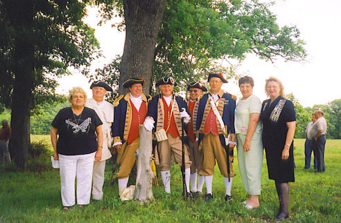 MOSSAR Color Guard team at Daughters of American Revolution Ceremony to honor Revolutionary War Soldier Peter Pinnel on May 28th, 2005