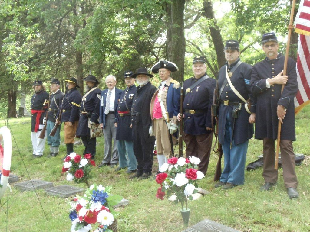 The MOSSAR Color Guard, along with Westport Camp #64, Sons of Union Veterans of the Civil War;  conducted a Memorial Service for Cornell and Charles Crysler, to pay a tribute of respect to our Brother and his father buried at Mount Washington Cemetery in Independence, Missouri.