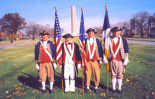 MOSSAR Color Guard Team on Veterans Day 2005. The team participated in the Veterans Day event located at the Liberty Memorial tower in Kansas City, MO, which honors World War I veterans