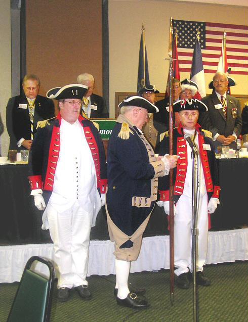 The South Central District Color Guard is shown here participating in a changing of the guard at the South Central District Annual Meeting in Oklahoma City, Oklahoma on August 22-23, 2008.
