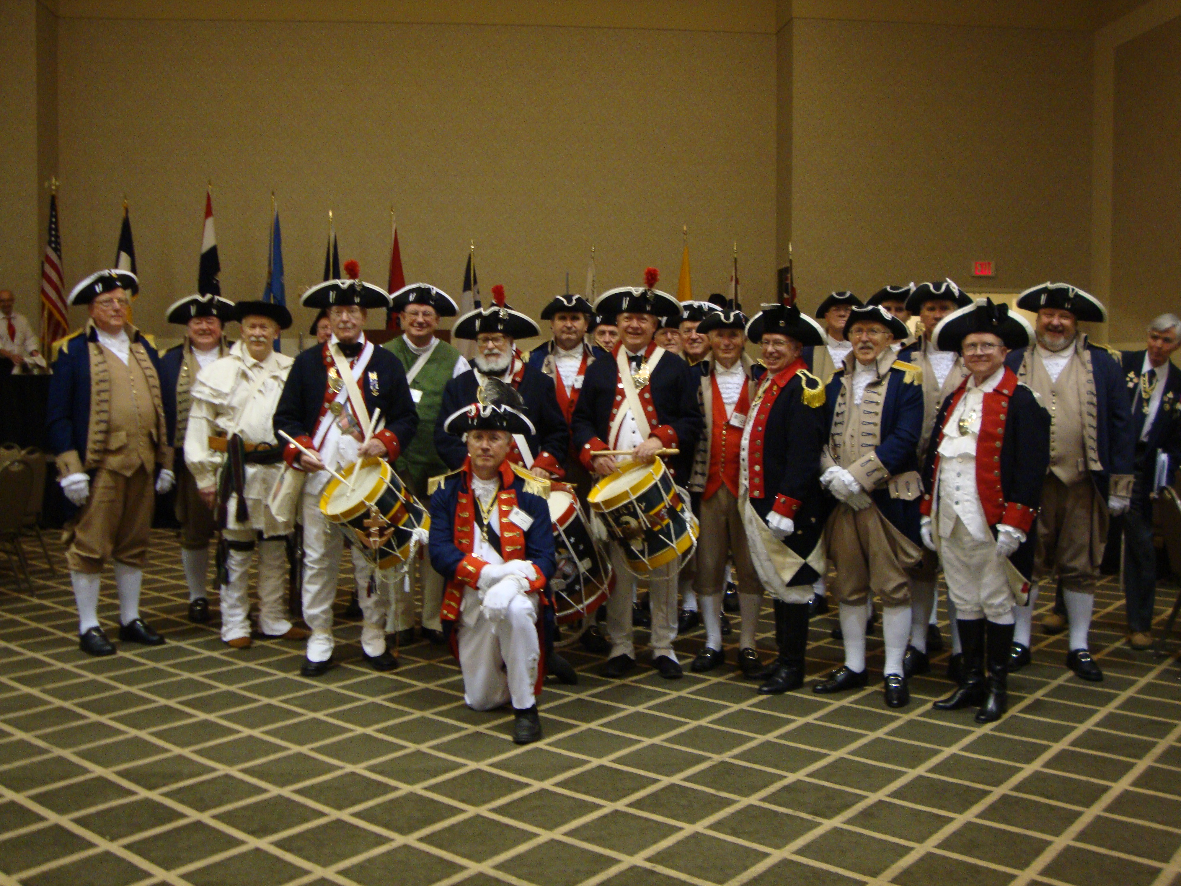 The South Central District Color Guard is shown here participating at the South Central District Annual Meeting at the Sheraton Overland Park Hotel, in Overland Park, Kansas on August 26-27, 2011